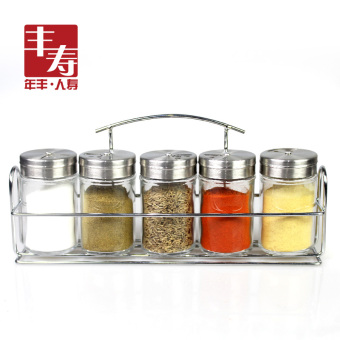 Feng life glass cruet seasoning box seasoning cans seasoning bottle kitchen supplies pepper shakers salt shaker Seal