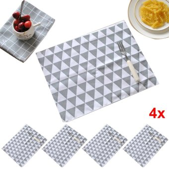Harga PAlight 4 Pcs Kitchen Dinning Decoration Table Mat Placemat (Triangle)