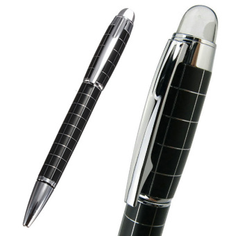 Harga NEW Baoer 79 Starwalker Cross Line Twist Action Ballpoint Pen Silver Checked
