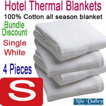 Harga Nile Valley Hotel 100% Cotton Thermal Blankets. 4 Pieces