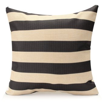 Vintage Geometry Black&White Cotton Throw Cushion Cover Pillow Case Home Decor #01 - Intl