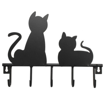 Harga Cat Shaped Key Hanger Cats Key hooks Key Holder Kitten Silhouette Organiser