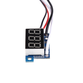 Harga Direct Current DC0 to 100A 0.36Inch Red Digital Display Ammeter Panel