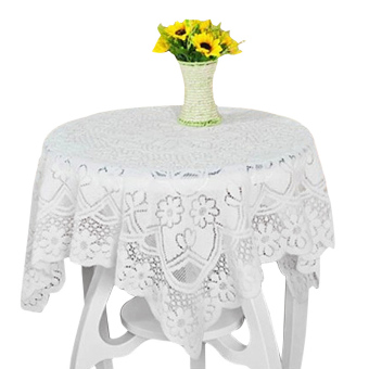 Harga PAlight Embroidery Lace Tablecloth (Diameter 200cm Round)