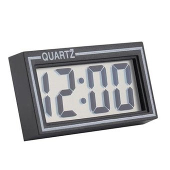 Sanwood Digital LCD Screen Table Auto Car Dashboard Desk Date Time Calendar Small Clock - intl