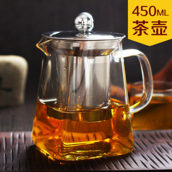 Harga Tea Set tea bubble heat-resistant glass flower pot teapot kung fu red tea stainless steel filter tea cup red tea is