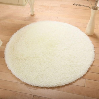 Harga Soft Shaggy Area Round Rug Living Room Carpet Bedroom Floor Mat Carpet - intl