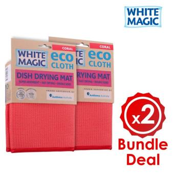 Harga [Bundle Deal] White Magic Dish Drying Mat X 2