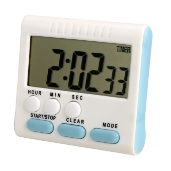 Harga CatWalk Large LCD Digital Kitchen Timer Alarm Count Down Clock (White) (EXPORT)
