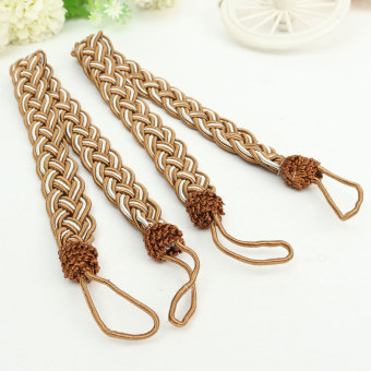 Harga 2pcs Cotton Rope Tassel Window Curtain Fringe Tiebacks Tie Backs Room Decor