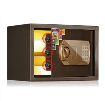 Harga 25L Electronic Safe Deposit Box (Brown)