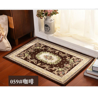 Harga High Quality Soft Jacquard Carpet Porch Parlor Mats Non-slip Living Room Floor Mat Home Household Area Rugs( Coffee ) 50x80cm - intl