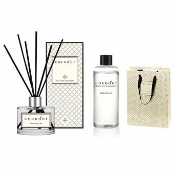 Cocodor Aroma Reed Diffuser Refreshing Air 200ml Diffuser + 200ml Refill + 10 Reed Sticks - intl Price in Singapore