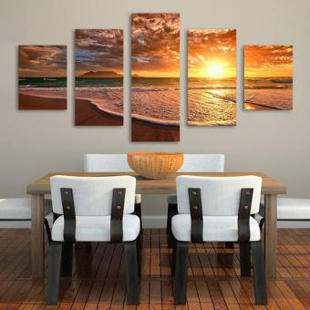 Harga The Family Decorates Print in The Painting On The Canvas,Wall Art Gift - intl