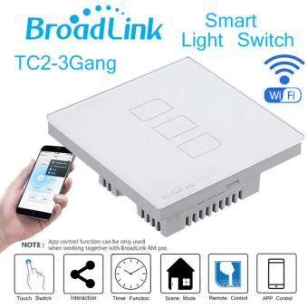 Broadlink TC2-3 Gang AC 170V-240V Smart Home Remote Wireless Light Controller Wifi Control EU Plug - intl