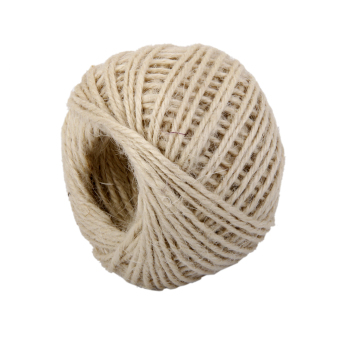 Harga 50M Wrap Gift Hemp Rope Ribbon Twine Rope Cord String Ball Beige