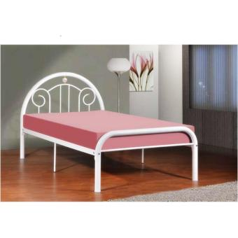 Harga BFF - Becca Single Size Metal Bed (White)