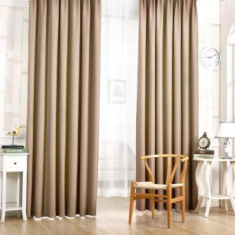 Harga Blackout Thermal Solid Window Curtain Coffee