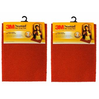 Harga [Bundle of 2 ] 3M™ Nomad™ Dirt Trap Mat - Red - 60 cm x 90cm