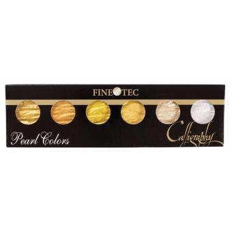 Finetec Calligraphy Metallic gold colour set (Hand made in Germany) - 6 colour