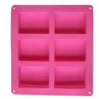 Harga OEM 6-Cavity Plain Rectangle Soap Mold