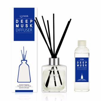 Luxor Aroma Reed Diffuser Deep Musk 200ml Bottle + 200ml Refills + 5 Reed Sticks Price in Singapore