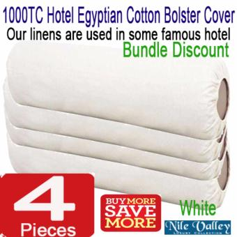 Harga Nile Valley's 5 Star 1000TC Hotel High Thread Count Egyptian Cotton Bolster Cover
