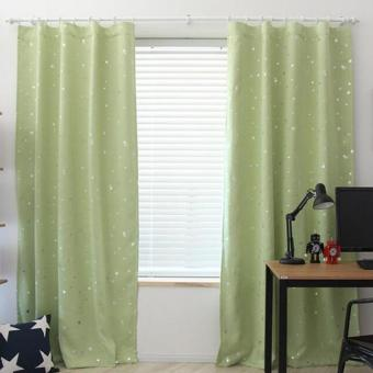 Harga Blackout Thermal Solid Window Curtai Green