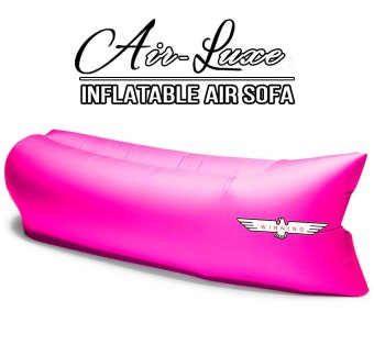 Harga Winning AIR-LUXE High Quality 100% Waterproof Parachute Nylon Air sofa/bed/couch. Compact Light & Portable (Pink)