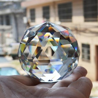 40mm Quartz Crystal Glass Faceted Ball Natural Stones and Minerals Feng Shui Crystals Balls Miniature Figurine Kristal Products - intl