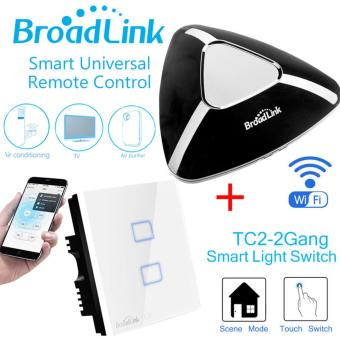 Broadlink TC2-2 Gang AC 170V-240V Smart Home Remote Wireless Light Controller Wifi Control EU Plug - intl