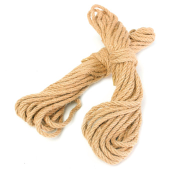 Harga 2Pcs 10M Twisted Burlap Jute Twine Rope Thick Natural Hemp Cord Sisal Rope 6mm