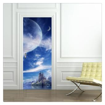 Harga PVC Door Sticker Wall Sticker Waterproof Living Room Door Mural Wrap019 - intl