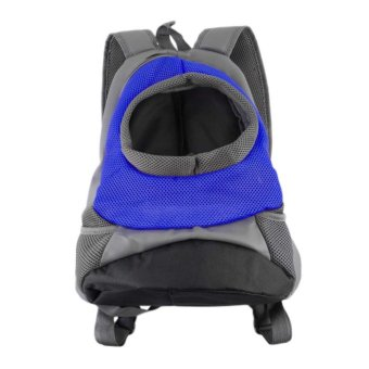 Harga OH Pet Carrier Dog Cat Puppy Travel Bag Mesh Backpack Head out Carrier Bag Blue