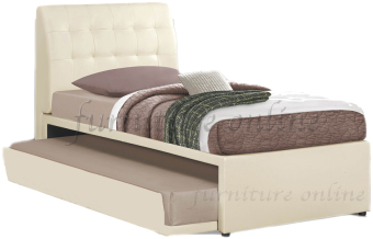 Harga Alonso Quality Divan Bedframe with Pull-out Bed (Cream)