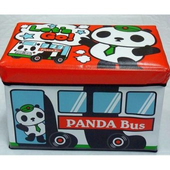 Harga Children Kids Stool Cum Toy Storage - Big Panda Bus(Red)