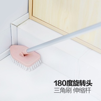 Harga Home home telescopic long-handled brush to brush Floor Brush hard hair brush bathroom tile bathtub cleaning brush