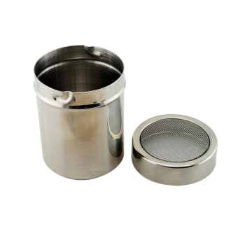 Harga Stainless Chocolate Fine Mesh Sifter Shaker Dredge Icing Sugar Powder Cocoa Flour Coffee Sifter