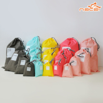 Harga Drawstring storage bag sorting bags lucky bag 4 pcs Korean Make U lucky pouch string 2