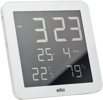 Harga Braun BNC014WH Digital Wall Clock (White)