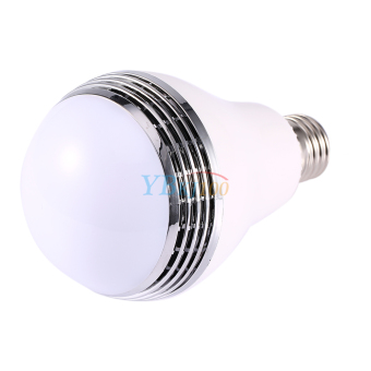 Harga 5W LED Bulb Bluetooth APP Control Smart Music Speaker Player Lamp Light - intl