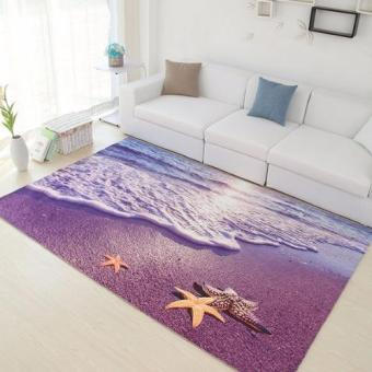 Harga Chao Ku 3DCP01 Elegant 3D Printing Carpet Sunset on the beach