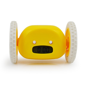 Harga Creative personality bedroom bedside alarm clock mute luminous alarm clock running cute lazy pervert escape student children