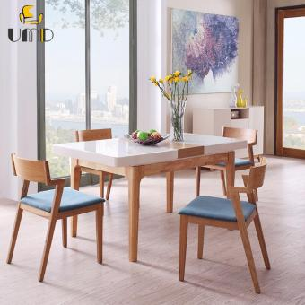 Harga Nordic style solid wood scaleable dinning table(table ONlY)