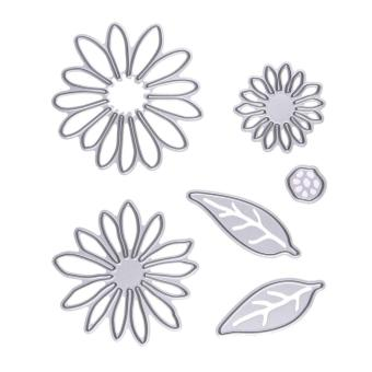 Harga 6pcs Flowers Metal Cutting Dies in scrapbooking - intl
