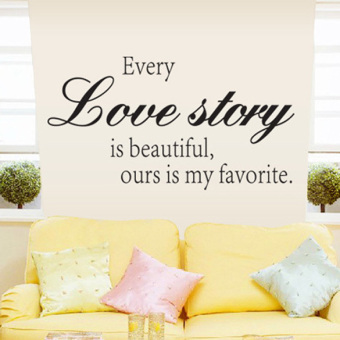 Harga Every Love Story Is Beautiful Vinyl Wall Decal Sticker Art Quote Home Decor