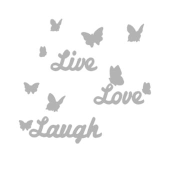 Harga DIY Mirror Butterfly Live Love Laugh Wall Sticker - intl