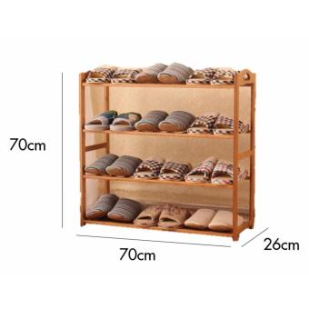 Harga 4 Tier Wooden Shoe Rack