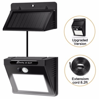 Harga Solar Light Waterproof Motion Sensor Wall Light with Separable Solar Panel and 8 Ft Extension Cords for Garden, Patio, Driveway, Deck, Stairs - intl