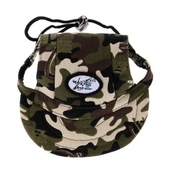 Harga BolehDeals Small Pet Dog Cat Kitten Camouflage Baseball Hat Strap Cap Sunbonnet S (EXPORT)